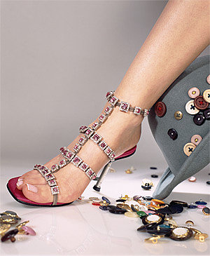 Ankle strap pearls