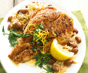 Fast & Easy Dinner: Cajun Snapper With Red Beans and Rice