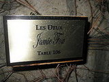 Celebrities are given the royal treatment. Jamie Foxx, James Blunt, and the Hilton sisters have their own private table marked with a small plaque. If one of the celebs come to Les Deux, the people who are currently sitting at their table are politely asked to vacate the space to make way for the celebrity.