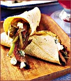 Fajitas with Roquefort