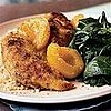 Fast & Easy Dinner: Chicken Tenders With Apricots and Sauteed Spinach