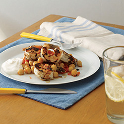 Fast & Easy Dinner: Shrimp and Chickpeas
