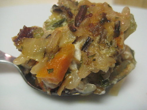 The Amazing Rice: Wild Rice and Goat Cheese Stuffing