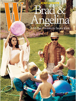 Brad to Shoot Angie and the Kids for W Magazine Cover!