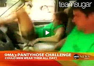 Men Wear Pantyhose For One Full Work Day