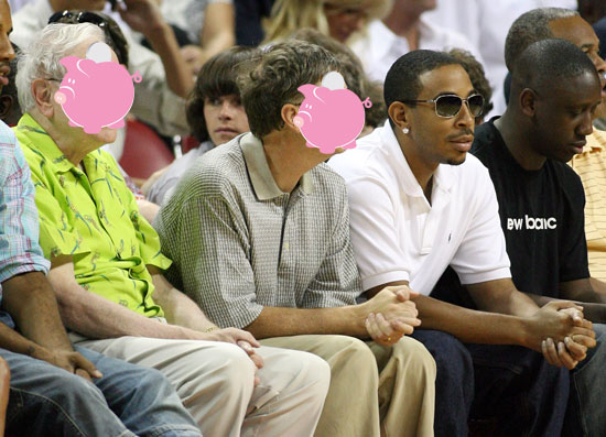 Guess Who? Sitting Courtside With Ludacris