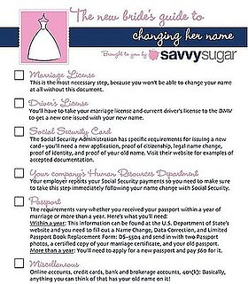 New Bride's Guide to Changing Her Name