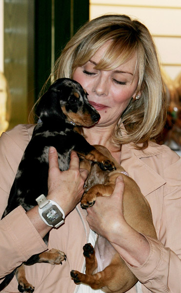 In the Spotlight: Kim Cattrall at Harrod's (With Puppies!)