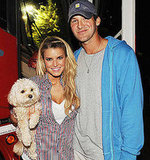 Jessica Simpson, Tony Romo and Daisy at the 16th Annual Country Thunder USA