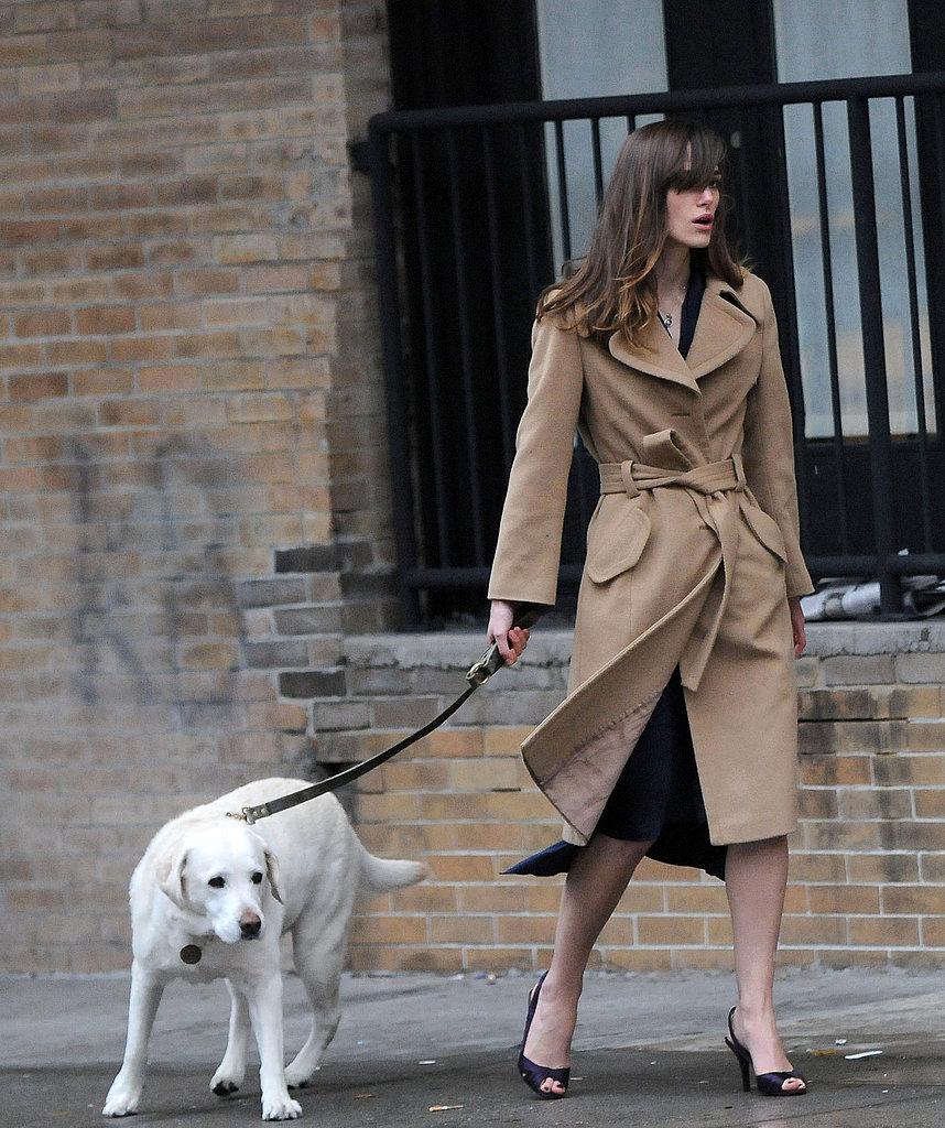 "In the Spotlight: Keira Knightley Films ""Last Night"" in NYC"