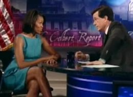 Stephen Colbert Sings to Michelle Obama