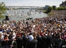 Obama Draws Estimated Crowd of 75,000 in Portland