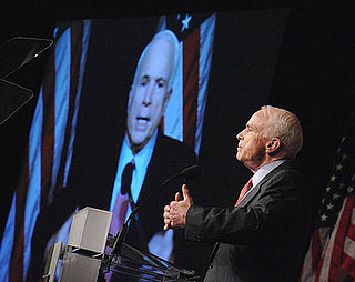 "McCain Sheds His ""Green Speech"" Skin, Shines Amid Protests"