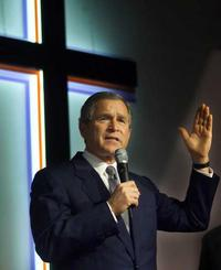 Bush Praises Faith-Based Groups For Helping Needy