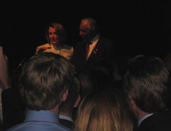 Nancy Pelosi and Charlie Rangel on stage!
