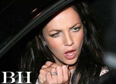 Britney Spears in White Eyeliner