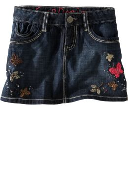 Sparkling Butterfly Denim Mini