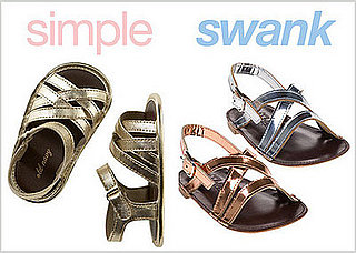 Metallic Sandals for Girls