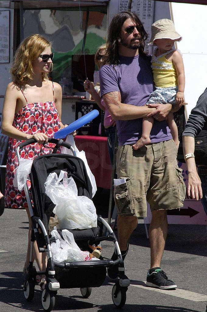 Dave Grohl Strolls with His Girls