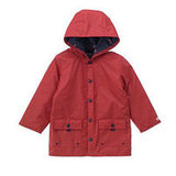 Red Hooded Raincoat $52