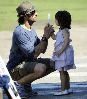 Hugh Helps Ava Lick the Popsicle