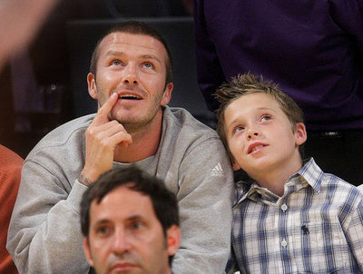 The Beckham Boys Keep Their Chins Up