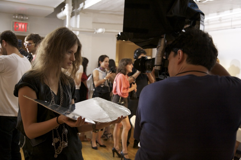 Backstage At Karen Walker