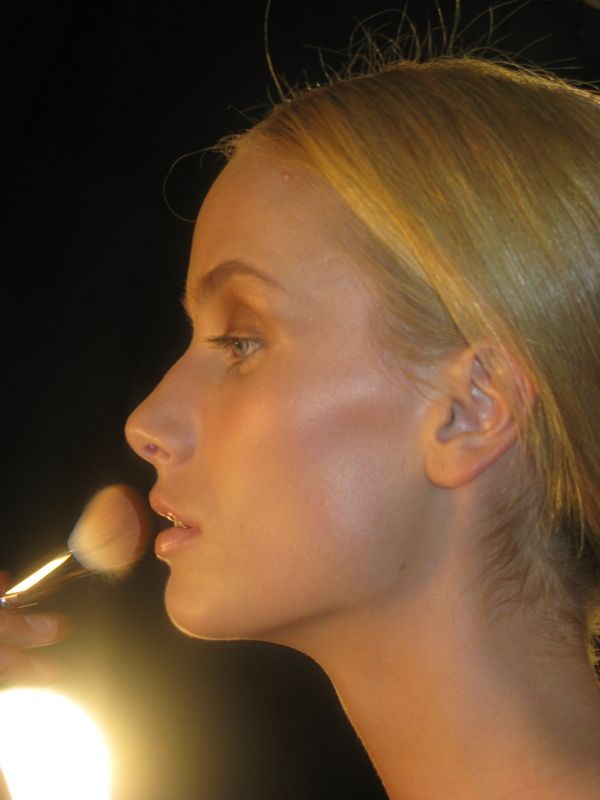 Backstage at Vivienne Tam