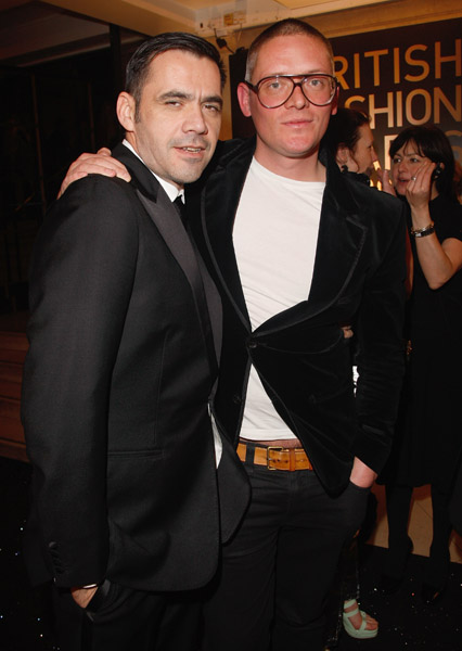 Fashion Designer Giles Deacon (right)