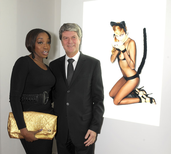 Singer Estelle, Yves Carcelle, Director of Louis Vuitton