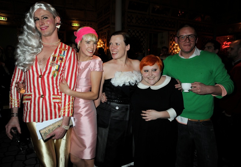 Agyness Deyn, Katie Grand, Beth Ditto and Giles Deacon