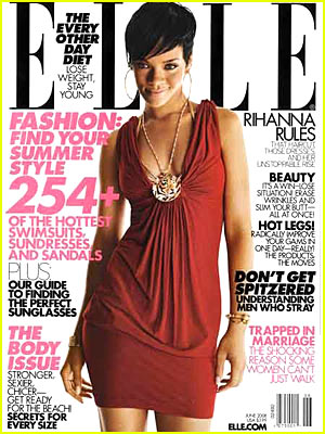 "Rihanna Covers ""Elle"" June 2008"