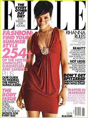 "Rihanna Covers ""Elle"" June 2008"