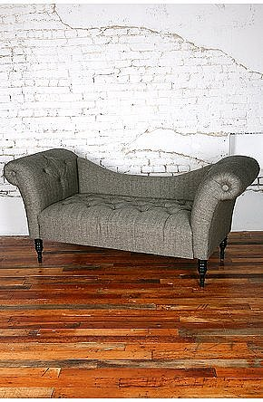 UrbanOutfitters.com &gt; Antoinette Fainting Sofa - Black Herringbone