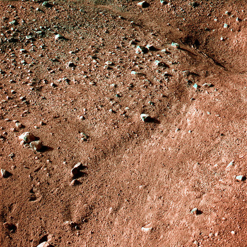 It's Really Red! (No Green Men!) Pictures From Mars Landing!