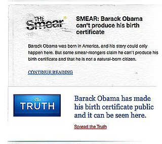Obama Fights the Smears One Google at a Time