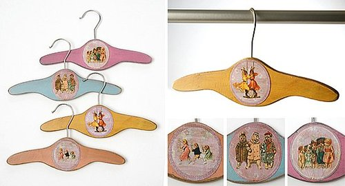 Pimp Your Crib: Children's Wooden Hangers