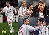 Photos of David Beckham Playing with AC Milan vs Roma