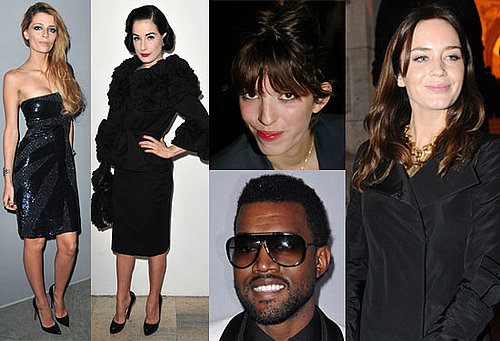 Photos of Lou Doillon, Emily Blunt, Kanye West, Mischa Barton, Dita Von Teese at Paris Haute Couture Shows