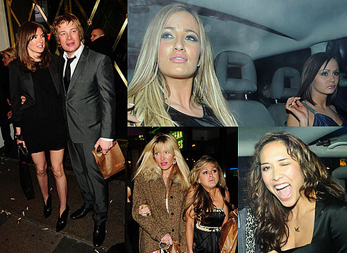 Pictures of Myleene Klass, Caprice, Nikki Grahame, Chantelle, Chanelle, Jools and Jamie Oliver Partying in London