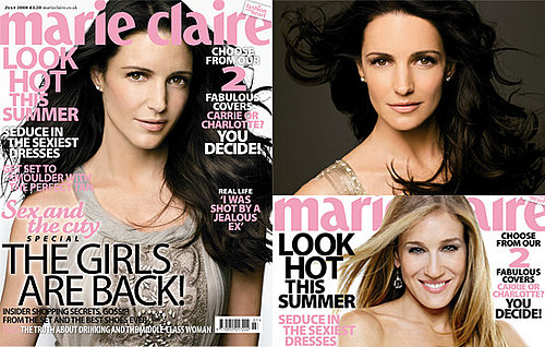 Kristin Davis On The Cover Of Marie Claire Magazine, With Interview Excerpts Discussing Sex And The City