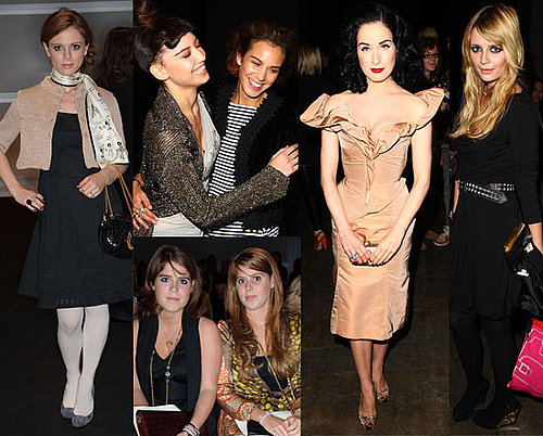 Photos Of Celebs At London Fashion Week s/s 2009 Featuring Dita Von Teese, Alexa Chung, Princess Beatrice, Mischa Barton etc...