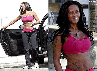 Photos Of Melanie Brown a.k.a. Mel B From Spice Girls Working Out While She Says She Might Strip For Playboy
