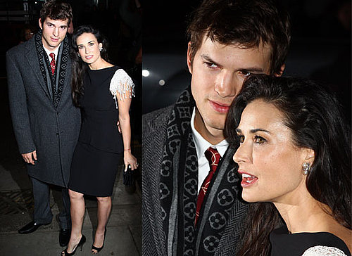 Photos Of Demi Moore and Ashton Kutcher on the Red Carpet at the London premiere of Flawless