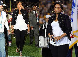 Look for Less: Jennifer Hudson at the Super Bowl