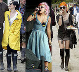 Kelly Osbourne, Lily Allen and Pixie Geldof at Glastonbury 2008