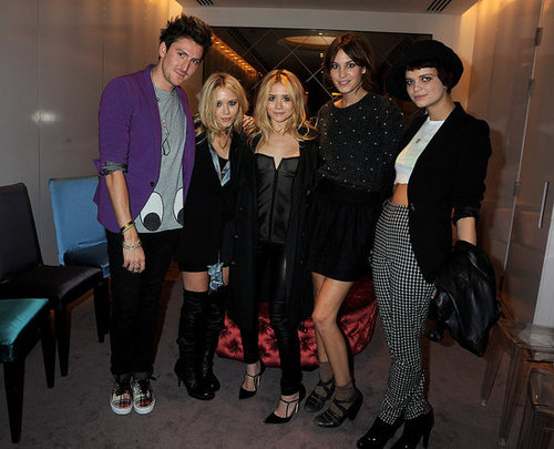 Henry Holland, Alexa Chung, Pixie Geldof at Olsen's Elizabeth and James Launch, Selfridges, London