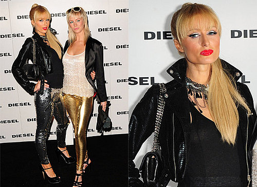 Paris Hilton at Diesel Party, Les Chiffoniers leggings,