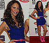 Amelle Berrabah in blue Preen dress at 2008 MTV European Music Awards