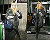 Fearne Cotton's Leaving Radio One with Mulberry leopard Bag and Houndstooth Coat